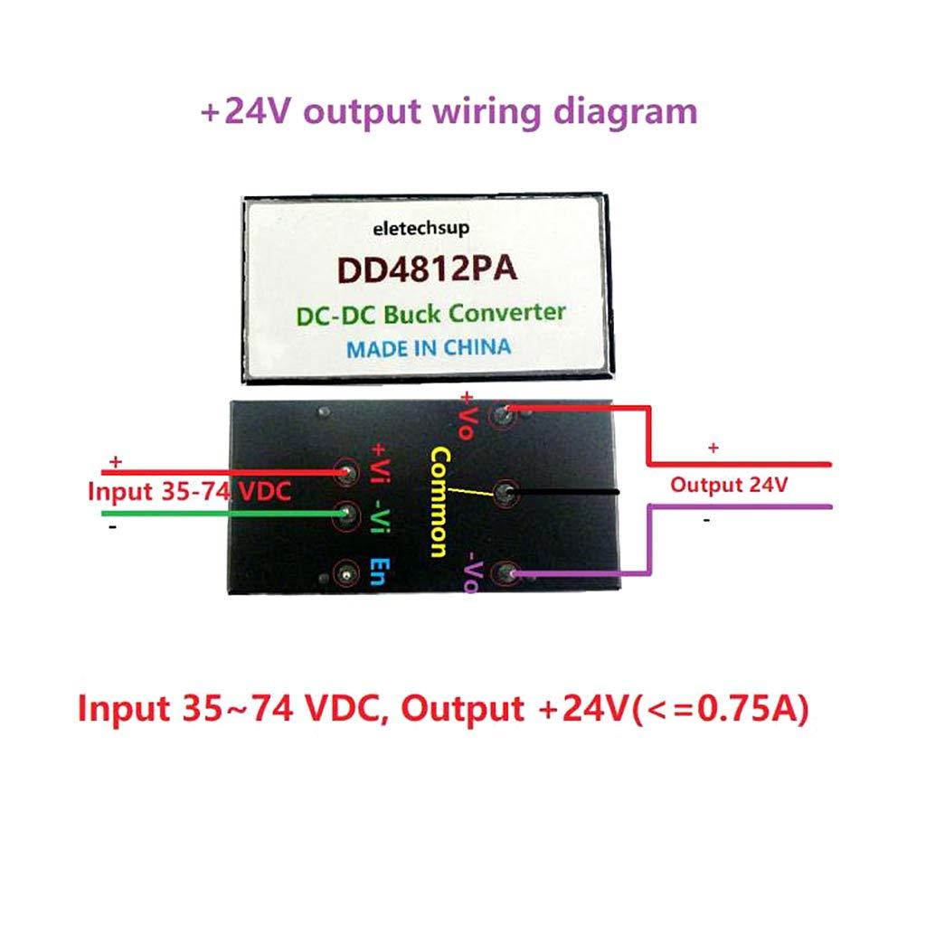 zhiwenCZW DD4812PA Zweifach isolierter DC-DC-Abw/ärtswandler 35-74 V bis /± 12 V DC-Abw/ärtsmodul