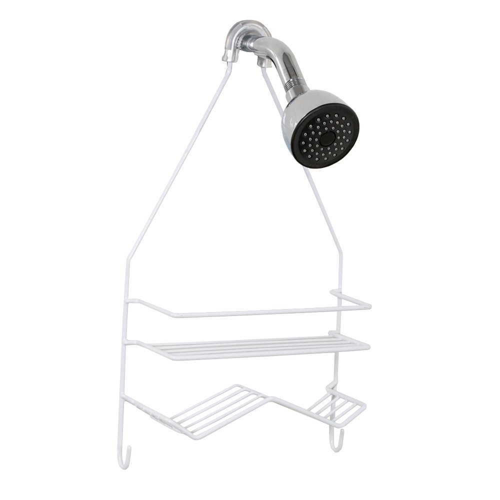 Amazon.com: Zenna Home 7518W, Over-the-Showerhead Caddy, White ...