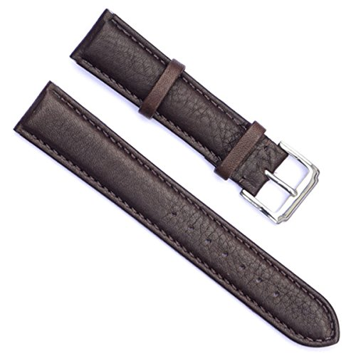 20mm Handmade Vintage Cowhide Leather Watch Strap/Watch Band (Coffee)