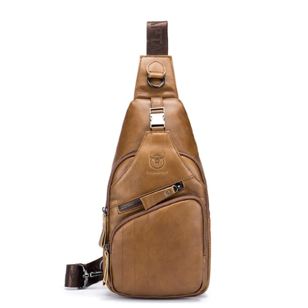 Lässige Sportbrusttasche aus Leder für Herren (Farbe   Metallic, Größe   L) B07P6QQRJ2 Schultertaschen