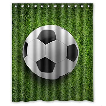 Hot Selling Football Shower Curtain 60x72 Inch Enjoy