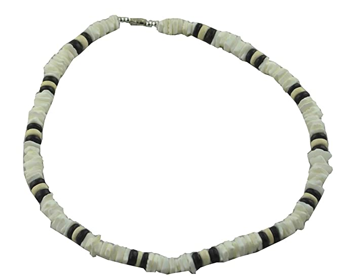 93462d28bab639 Tiger Smile 18 Round White Chips Puka Shell Necklace Necklaces