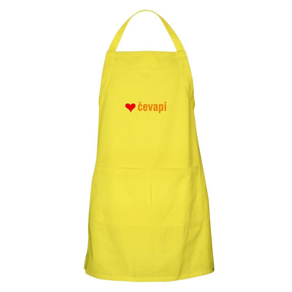 CafePress – I Love Cevapi BBQエプロン – キッチンエプロンポケット付き、グリルエプロン、Bakingエプロン イエロー 003810454829A30  レモン B073V9127Y