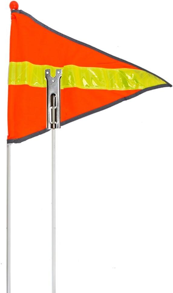 "2 Piece 72/"" Reflective Flag Sunlite Reflective Safety Flag Safety"