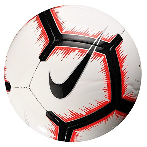 (Nike Pitch Soccer Ball (White/Black/Red, 5))