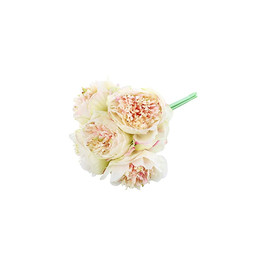 Soledi-Artificial-Silk-Fake-5-Heads-Flower-Bunch-Bouquet-Home-Hotel-Wedding-Party-Garden-Floral-Decor-Peony-Champagne