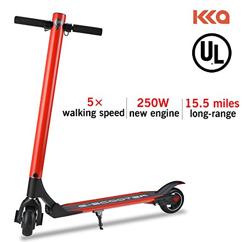 KKA Electric Scooter, 15.5 Mph Speed 15.5 Miles Distance Range Folding ELectric Kick Scooters For Adult By (Red) ()
