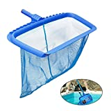 KOBWA Pool Skimmer Net, Professional Pool Skimmer with Deep Net Bag, Fits Standard Swimming Pool Poles