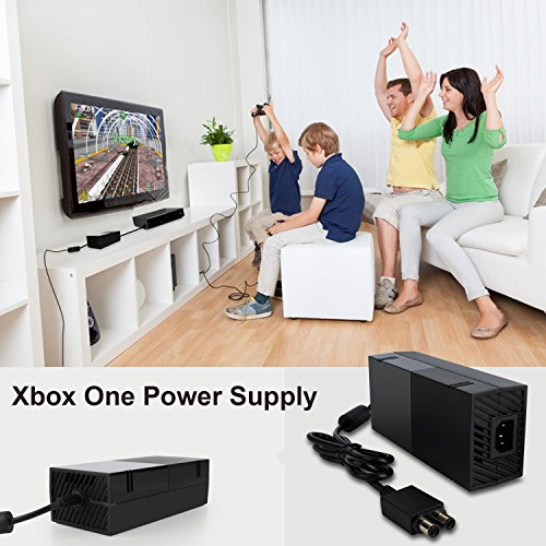 Xbox One Power Supply Brick, [Advanced QUIET VERSION] AC Adapter Power Supply Charger Cord Replacement for Xbox One 100-240V, Black by YCCSKY (Image #4)