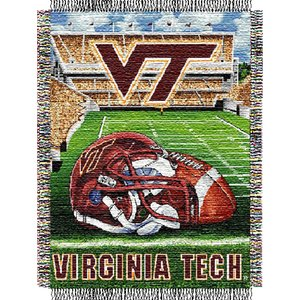 NCAA Virginia Tech Hokies Home Field Advantage Woven Tapestry Throw, 48
