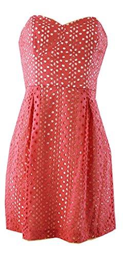 Strapless Cotton Eyelet Dress - 2