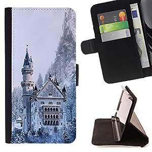 Momo Phone Case / Flip Funda de Cuero Case Cover - Arquitectura Castillo Nevado Invierno - Apple Iphone 4 / 4S