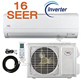 12,000 Btu YMGI 16 SEER Ductless Mini Split DC Inverter Air Conditioner Heat Pump System - 115 Volt with Free 25 Feet Installation Kit …