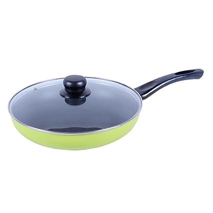 Saltear en sartén con Tapa,Sartenes para freír Utensilios de Cocina Multifuncional Batería de Cocina