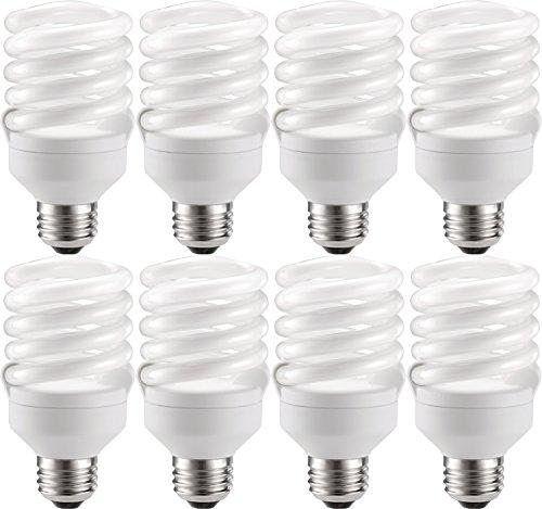 Philips Energy-Saver 18-Watt Twister Compact Fluorescent Light Bulbs (8 - Compact 18w