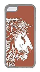 iPhone 5c case, Cute Brown Lion iPhone 5c Cover, iPhone 5c Cases, Soft Clear iPhone 5c Covers