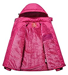 Women\'s Alternative Outerwear Coats Snowboarding Fleece Lined Skiing Jackets Red US Medium/ Asian 2XL
