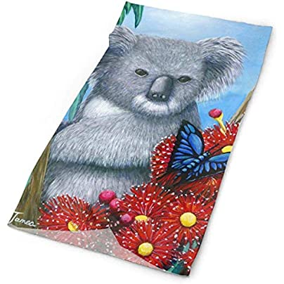 Koala Butterfly Headband Unisex Headwrap Magic Head Scarf Bandana Headwear Neck Scarf Elastic Hairband Unique Headdress Wristband Face Mask Neck Gaiter Estimated Price - £15.67