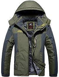 Men's Snow Jacket Windproof Waterproof Ski Jackets Winter Hooded Mountain Fleece Outwear