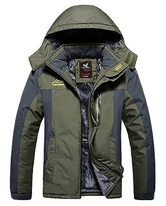 Amazon.com: HOW'ON Men's Snow Jacket Windproof Waterproof