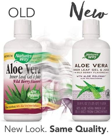 Natures Way Aloe Vera Gel Juice Wild Berry Flavor 1 Ltr