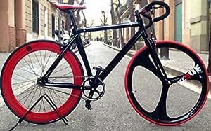 Bicicleta fixie-Acrue Pista 3 black. Monomarcha fixie / single speed.