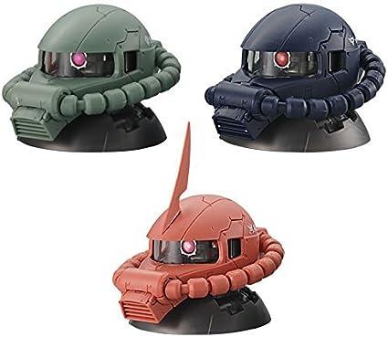 Gashapon Mobile Suit Gundam Exceed Model Zaku Head 5 Normal Set Set of 3