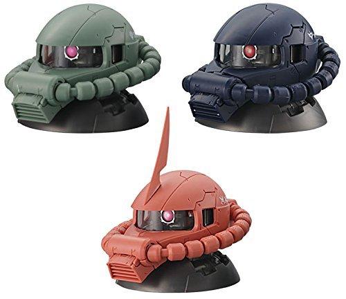 Gashapon Mobile Suit Gundam Exceed Model Zaku Head Set