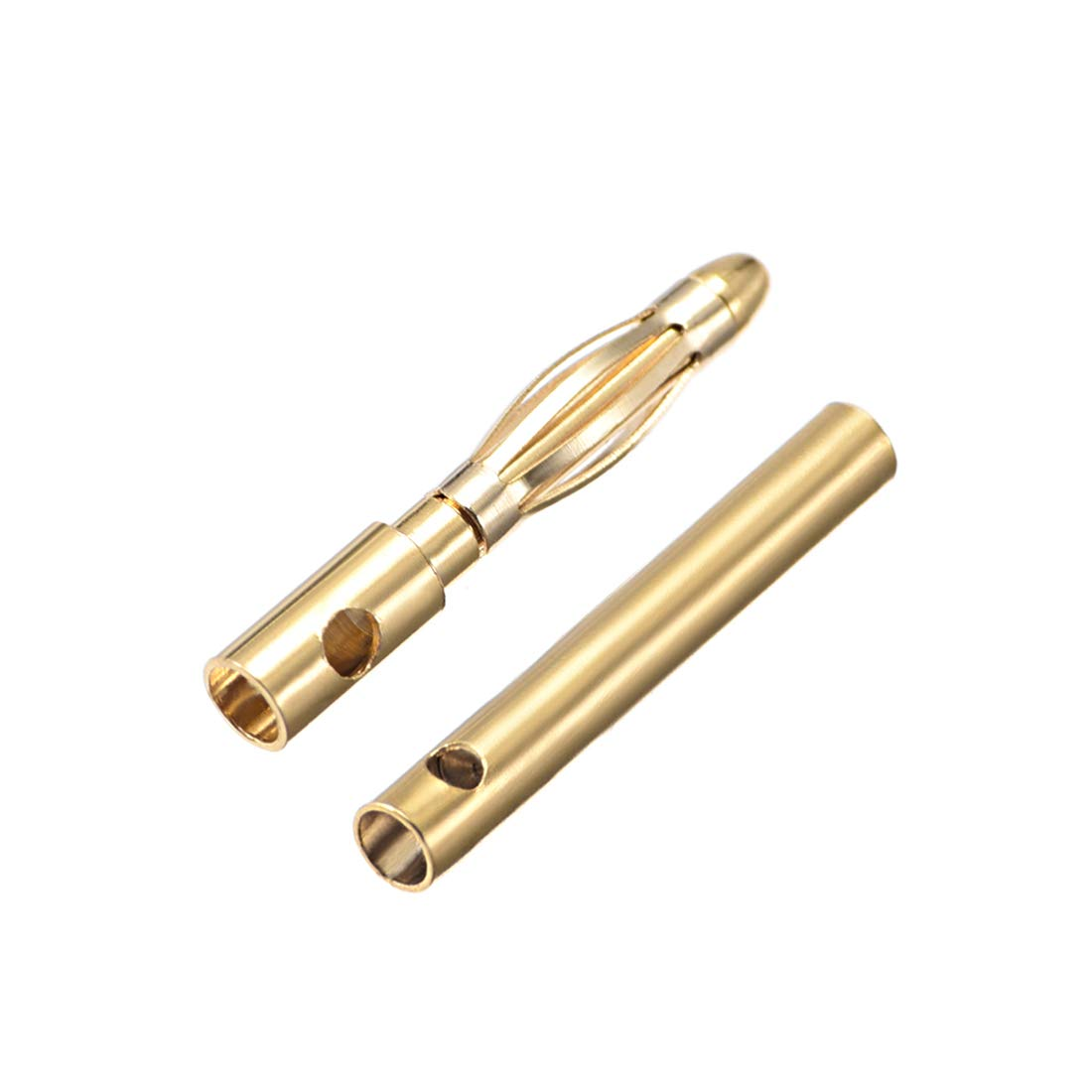 #0220 6 Male + 6 Female uxcell 6 Pairs 2mm Gold Plated Male /& Female Bullets Connectors Banana Plugs