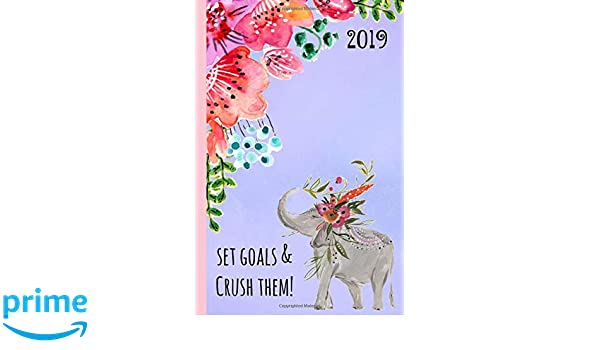 Set Goals and crush them: 2019 weekly planner, Agenda ...