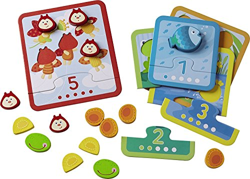 HABA Animal Counting Matching Game - Reinforcing Numbers 1-5 - Ages 18 Months and Up (Made in Germany)