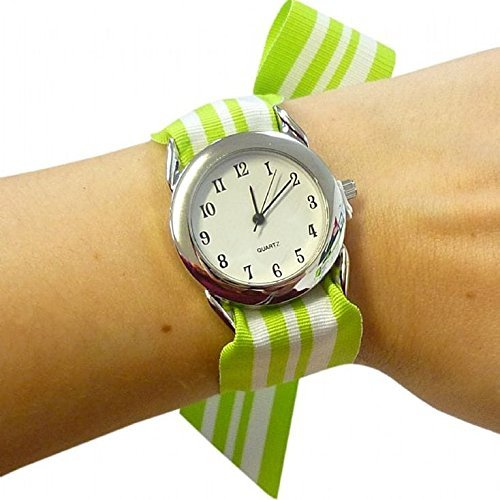 Premium Ribbon Watch with Interchangeable Customised Personalised Straps Set for Girls and Ladies DIY Do It Yourself Make Your (Personalised Ribbon)