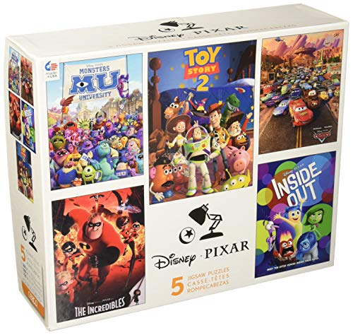 Ceaco Disney Pixar 5-in-1 Multipack Puzzles Includes (2) 300 Piece, (2) 550 Piece, (1) 750 Piece Puzzle