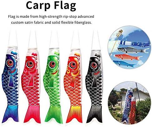 風ソックス旗吹き流しカープカラフルな和風ミニギフト魚風ストリーマーホームパーティーの装飾 GBYGDQ (Color : Pink)