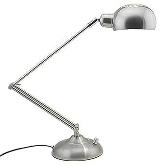 Nordic Fácil Arrugas Hierro Plata Lámpara de mesa lámpara de ...