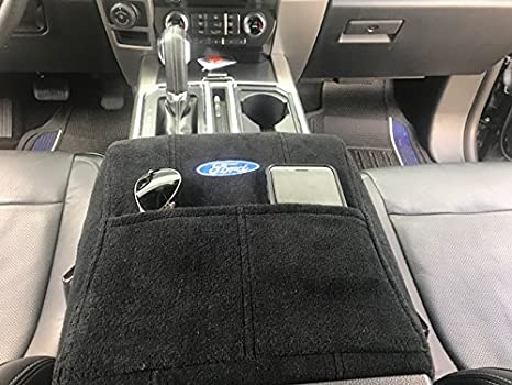 Amazon ford truck f150 f250 2014 2018 officially licensed ford ford truck f150 f250 2014 2018 officially licensed ford embroidered truck armrest cover for center publicscrutiny Image collections