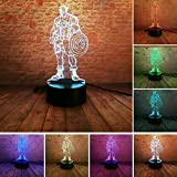 Captain America 3D Marvel Avengers Fans Super Hero Led Night Light 7 Colors illusion Lamp IR Remote Control Touch Kids Child Living/Bedroom Table/Desk Lighting Birthday Party Xmas Gif(Captain America)