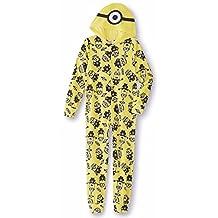 Minions Boys Fleece Blanket Sleeper/Onesie Pajama Set , Size 8
