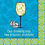 Bunco Napkins 'Our Drinking Culb Has a Bunco Problem'