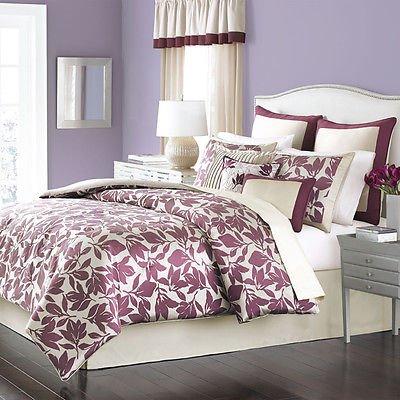 Martha Stewart Collection Birkshire Leaves 9 Piece Queen Comforter Set  Bedding