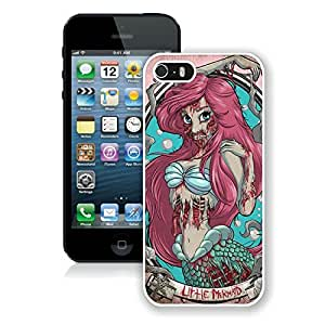 Best Buy Design Zombie Ariel The Little Mermaid Hard Shell iPhone 5s Cover Case White