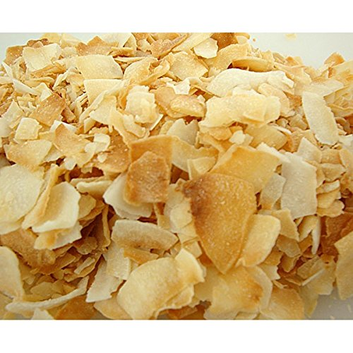 Toasted Coconut Chips - Unsweetened - LC Foods - All Natural - Paleo - Gluten Free - No Sugar - Diabetic Friendly - 10.6 oz