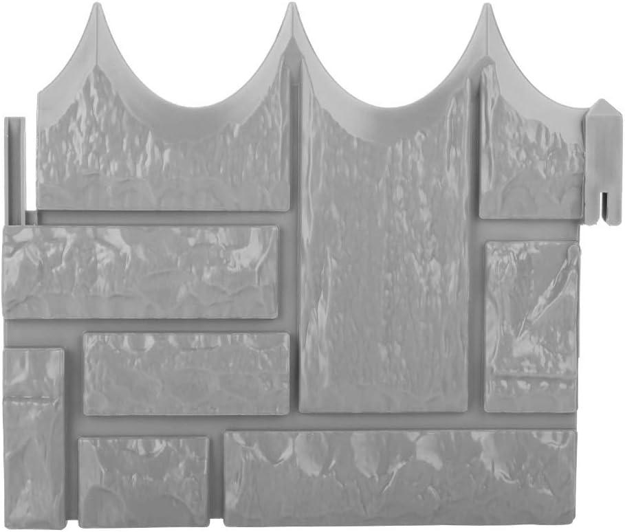 Nikou 6pcs Garden Fencing - Garden Simulated Brick Cement Mold Fence Stone Mold Concrete Flower Courtyard Lawn Mould Maker (Color : Gray)