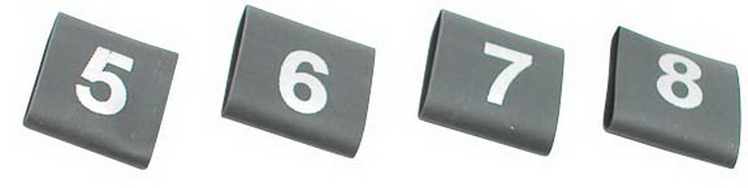 MSD 3415 Shrink Sleeve with Numbers, (Set of 8) MSD Ignition