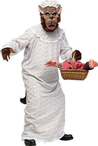 [Morris Costumes Big Bad Granny Wolf Adult Os] (Big Bad Wolf Costume Granny)