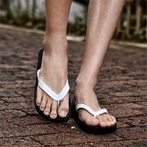 Blanco cómodo Flip Playa Flops Verano Zapatillas Hombres Zapatos Casuales fqwv8Aw