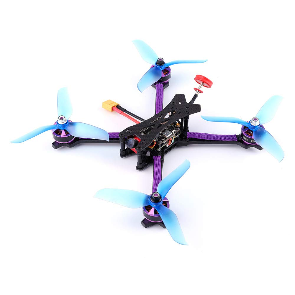 MOZATE Q215MM FPV Racing Drone DIY Assembled 800TVL Motor Frame Kit 5.8G 48CH RC Toys (AS Show, B) by MOZATE (Image #1)