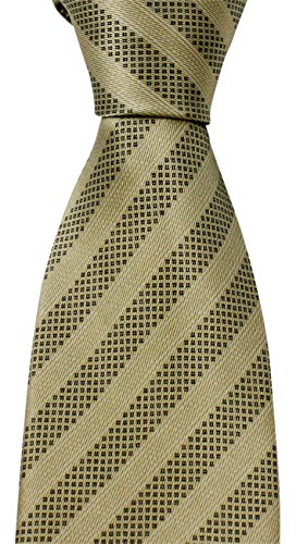 brioni-satin-beige-black-geometric-striped-tie