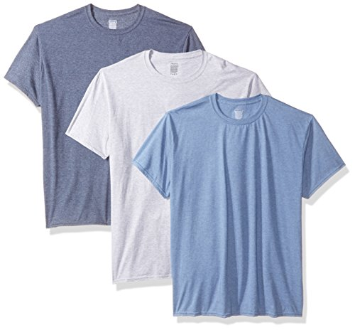 Gildan Men's 3-Pack Crew Neck T-Shirt-Big Sizes, Heather, - Tee Crewneck Gildan Mens Big