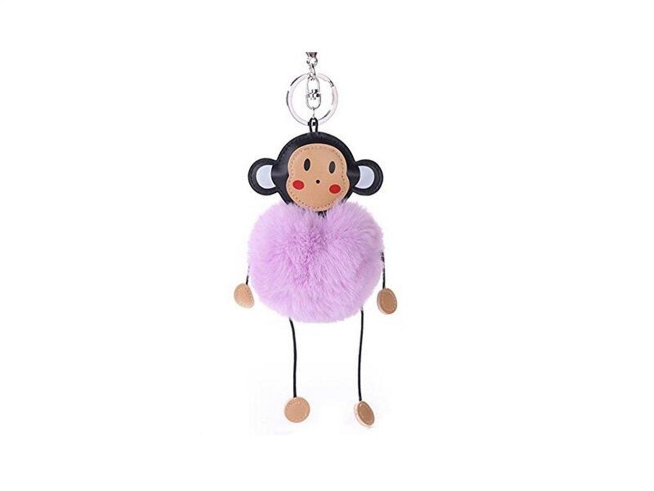 Flowerrs Utile Ciondolo portachiavi con pendente a forma di scimmia Gadget per la casa